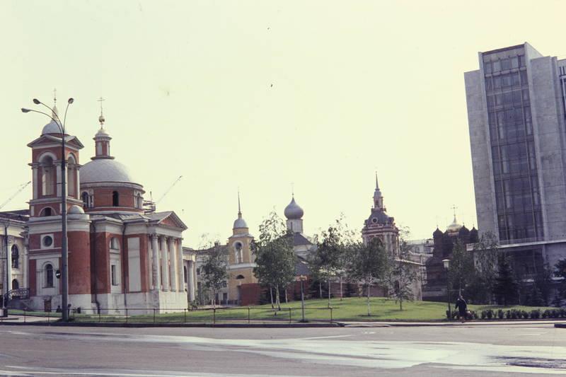 gebäude, kapelle, Moskau, strasse, turm