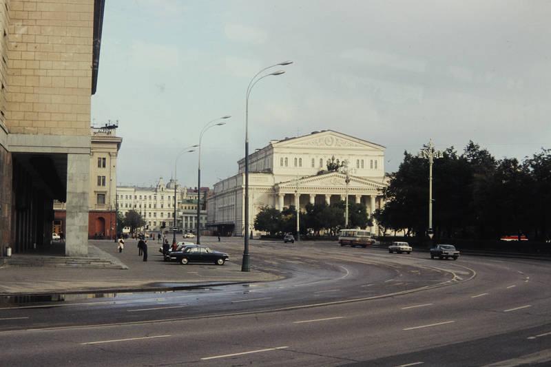 auto, bolschoi theater, bus, gebäude, Moskau, straße, theater