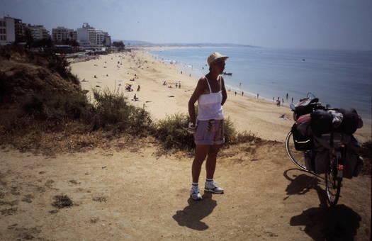 Mit dem Rad am Strand