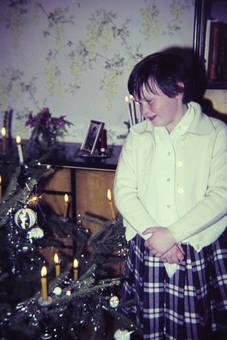 Kerzen auf dem Weihnachtsbaum