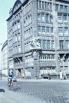 Radfahrerin in Hamburg