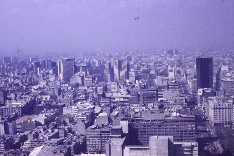 Hochhaus, luftbild, mexiko, mexiko-stadt, stadt