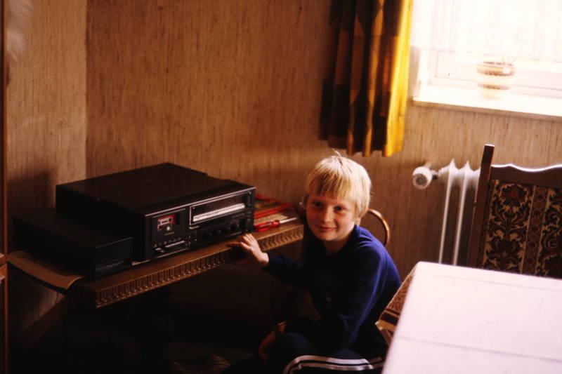 Anlage, kasettenrecorder, Kassette, Kindheit, musik, tisch