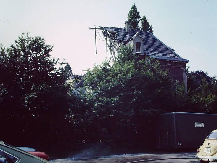 abriss, Fassade, haus, VW-Käfer, VW-Passat