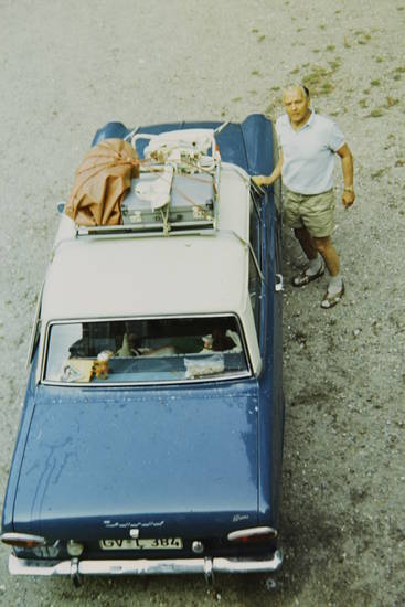 auto, Dach, Dachgepäckträger, Ford-17M, Gepäck, Gepäckträger, KFZ, Koffer, PKW, reise, urlaub