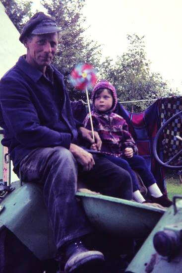 Kindheit, land, traktor, urlaub, windrad