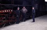Drei stolze Eisenbahner