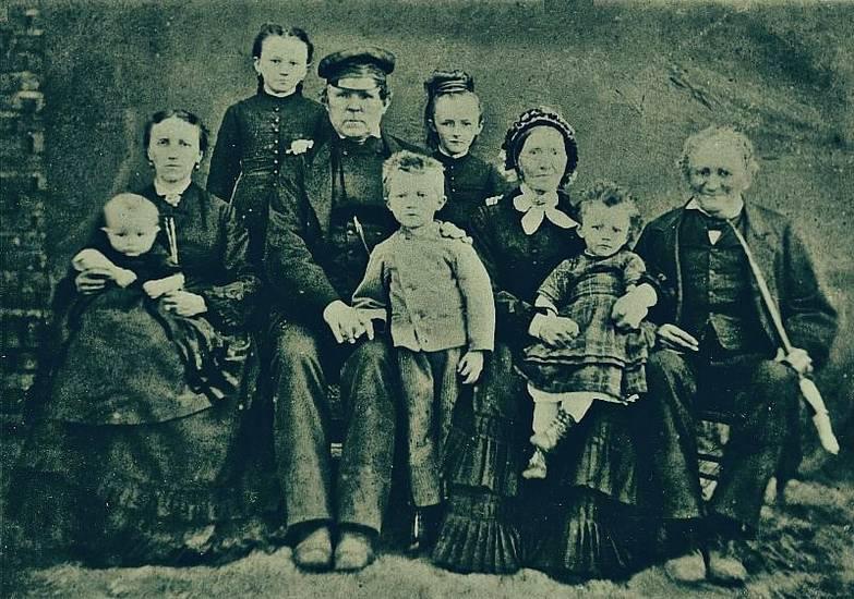 Bauern, engler, familie, familienfoto, Großvater, Landwirtschaft