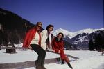 Drei Frauen im Schnee