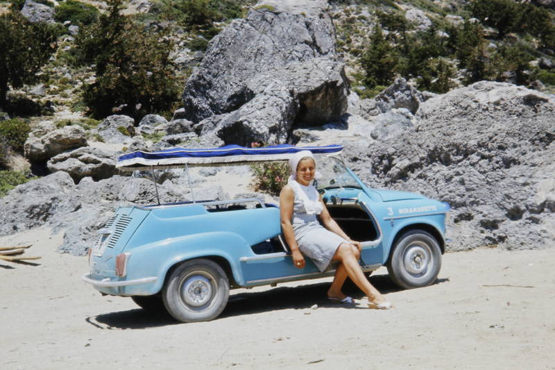 auto, Fiat, fiat 600, Fiat-600-Jolly, Fiat-Jolly, KFZ, leihwagen, PKW, sonnenverdeck, Strandauto, Strandwagen, umabu, urlaub, Urlaubsreise