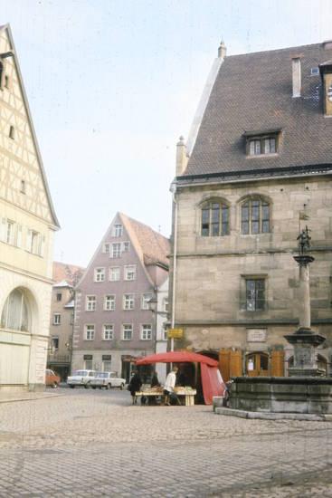 Altes Rathaus, Brunnen, einkauf, markt, Marktplatz, Platz, stand, Weißenburg