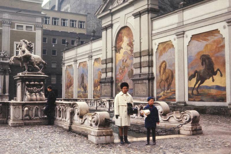 Fresko, Malerei, marstallschwemme, Pferd, Pferdeschwemme, Salzburg