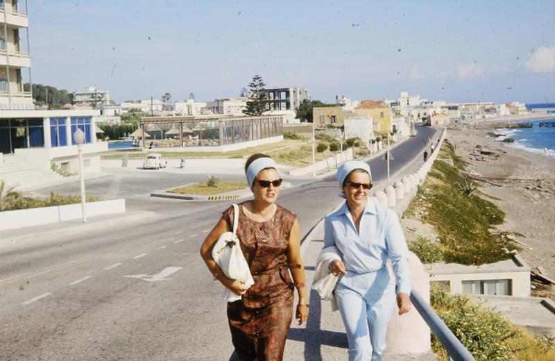 mode, rhodos, sonnenbrille, spaziergang, straße, urlaub