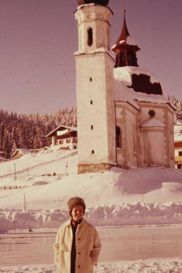 fellmütze, kirche, mantel, schnee, winter