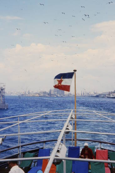 fahne, flagge, reise, schiff, Sozialistische Föderative Republik Jugoslawien, urlaub, Wind