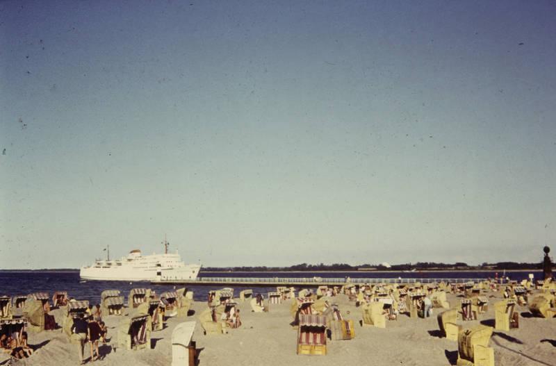 Pier, reise, schiff, Sommer, Strandkorb, urlaub