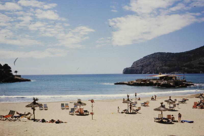 Liegestuhl, meer, sand, sandstrand, Sonnenschirm, strand, urlaub