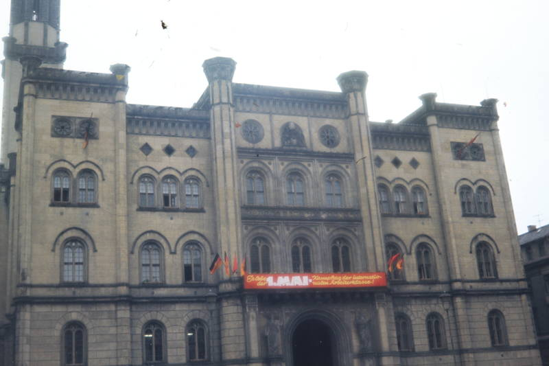 1.Mai, Arbeiterklasse, Banner, gebäude, Rathaus, Zittau