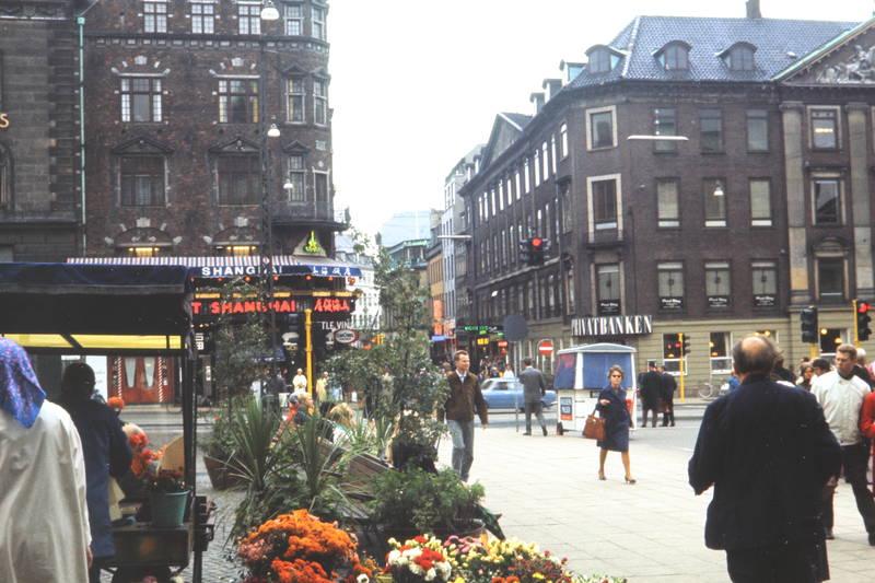Blume, Blumenstand, gammeltorv, Platz, Privatbanken, restaurant, Shanghai, stadt