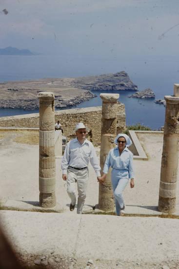 Akropolis, insel, lindos, mode, rhodos, Ruine, Säule, urlaub