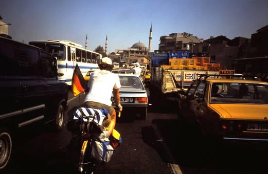Radeln im Großstadtverkehr