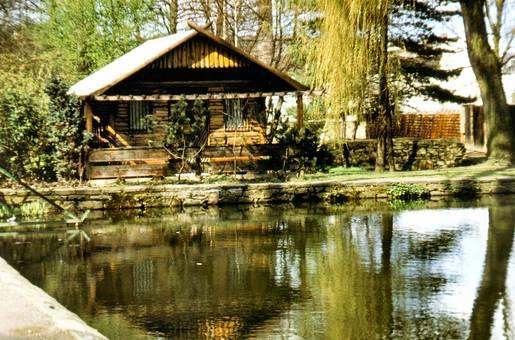 Hammerteich mit Fischerhütte