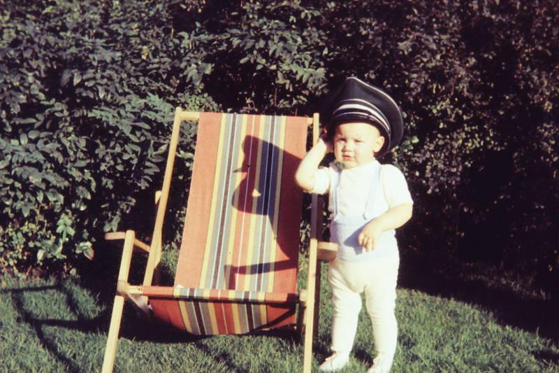 Kindheit, Liegestuhl, mütze, Schirmmütze, Spaß