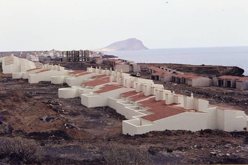 Bungalow, haus, küste, meer, Mittelmeer, Siedlung, teneriffa
