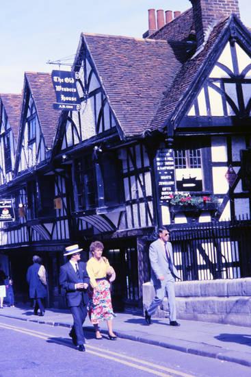 Fachwerkhaus, Gift Shop, hut, Old Weavers House, restaurant, Souvenirshop, straße