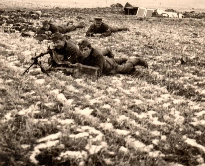 Maschinengewehr, MG, soldat, Wehrmacht