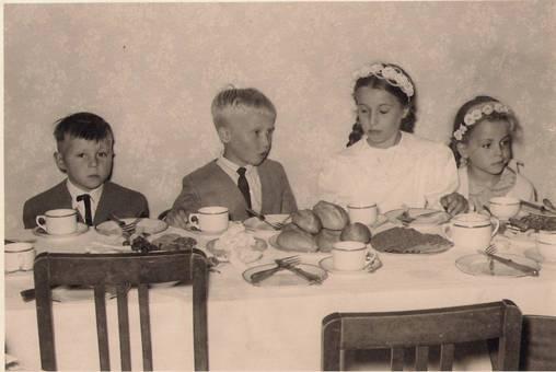 Kommunionsfrühstück bei Oma