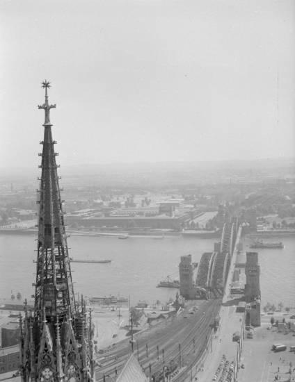 Ausblick, Dachreiter, dom, hohenzollernbrücke, köln, Kölner Dom, Rhein