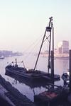 Ramme im Hafen