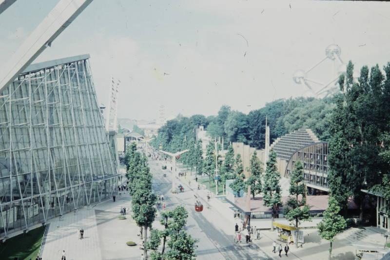 Atomium, Expo 1958, Pavilon, Seilbahn, Weltausstellung