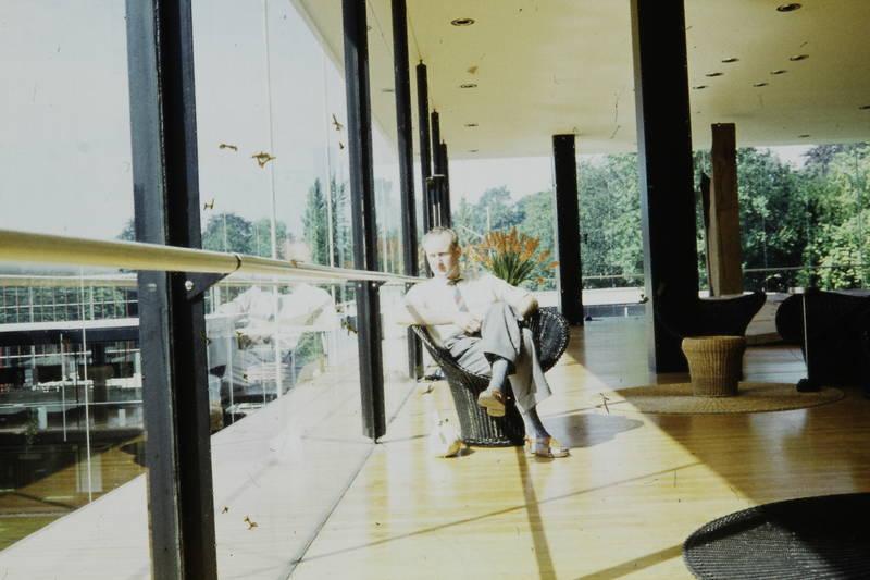 Architektur, deutscher pavillon, Expo '58, Korbsessel, Weltausstellung