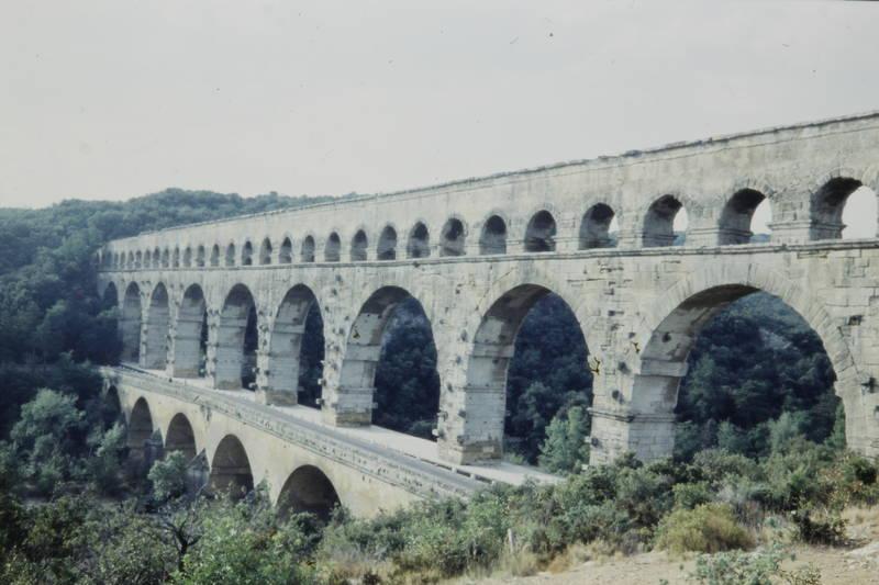 Aquädukt, baum, Département Gard, Pont du Gard, Tal