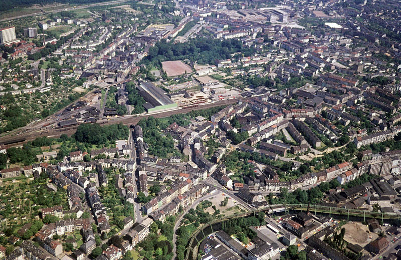 barmen, Helios Universitätsklinikum Wuppertal, Luftaufnahme, Rundflug, Wuppertal