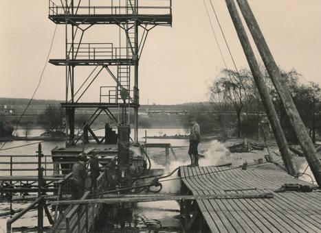 Bauarbeiten am See