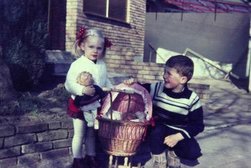 Unterwegs mit dem Puppenwagen