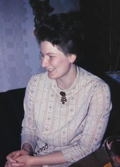 Lächelnde Dame