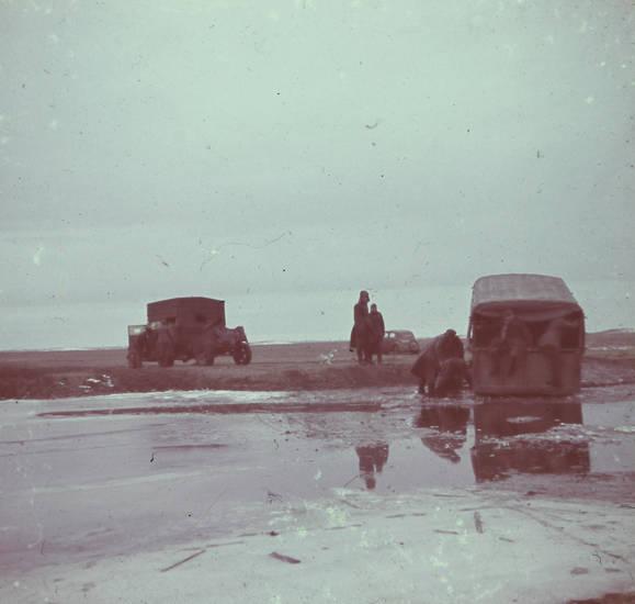 2.Weltkrieg, fahrzeug, rückzug, Russland, schlamm, Soldaten, zweiter weltkrieg