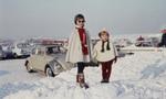 Zusammen im Schnee