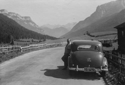 Mercedes in den Alpen