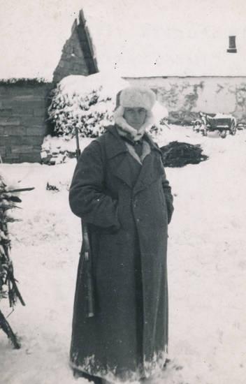 Gewehr, mantel, mütze, schnee, Weihnachten, winter, zweiter weltkrieg