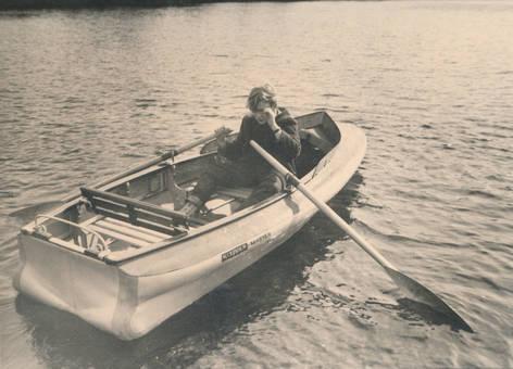 Im Ruderboot