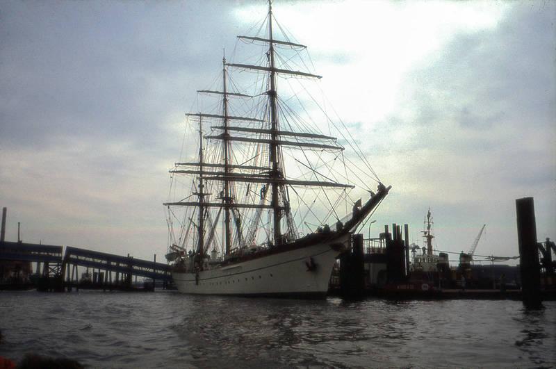 dock, dreimaster, gorch fock, Hafen, hamburg, Hamburger Hafen, schiff, Segelschiff, Segelschulschiff