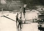 Vier Bauarbeiter