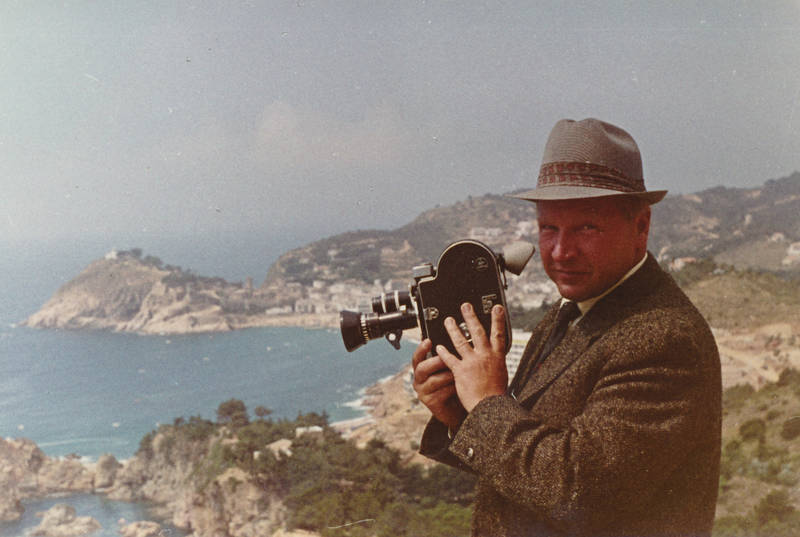Aussicht, ferien, film, filmen, Filmkamera, hut, meer, mode, Panorama, reise, Spanine, urlaub