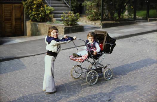 Kinderwagen schieben