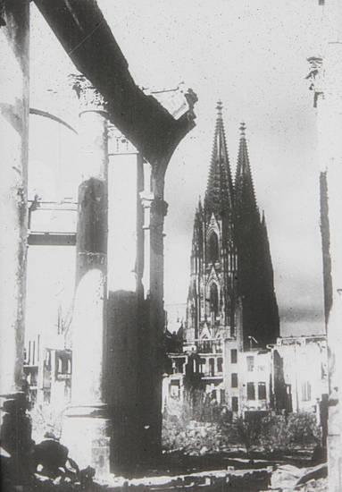 dom, köln, Kölner Dom, Rathaus, Ruine, trümmer, Zerstörung, zweiter weltkrieg